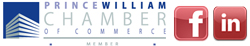 Prince William Chamber of Commerce Logo Facebook Logo LinkedIn Logo